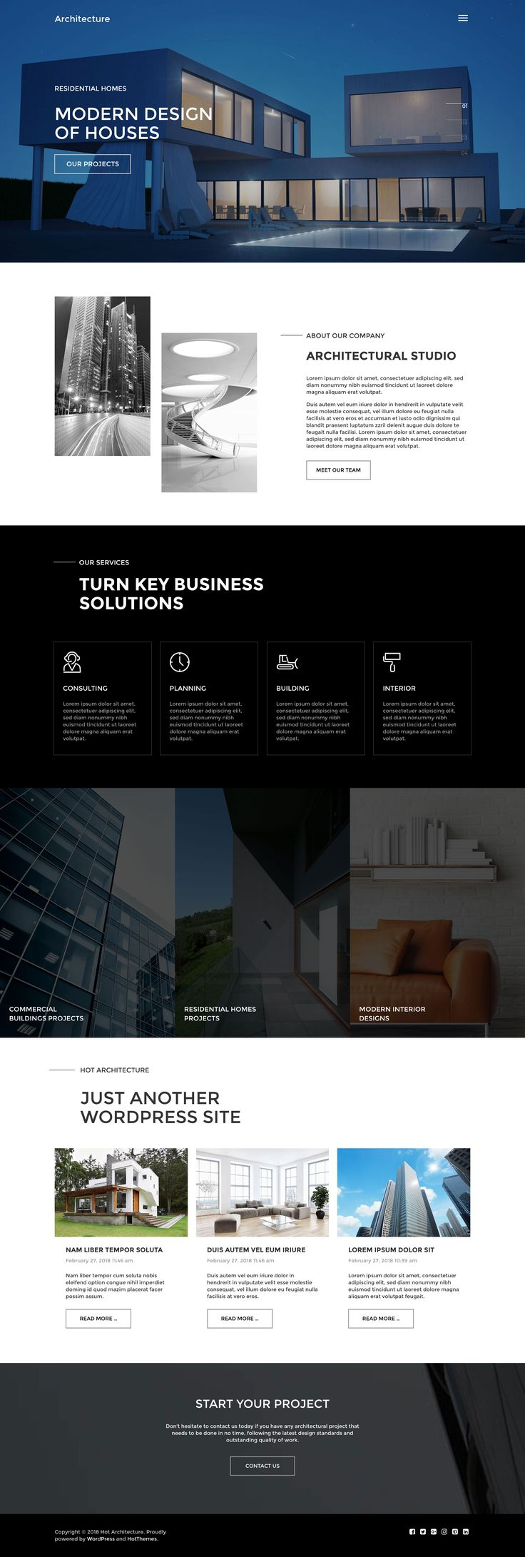 #Architecture #WordPress theme can be a good starting point for development of #website for companies related to architecture, #building, civil engineering and similar business fields.