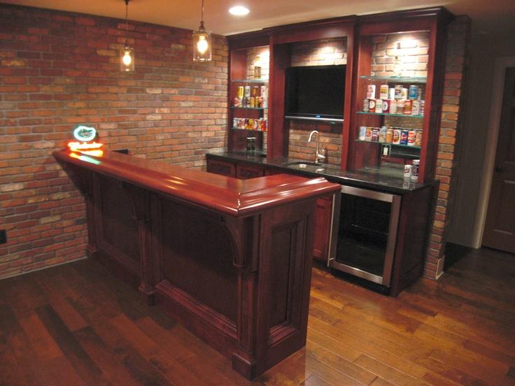 Angled view small custom bar  Bars and Wet Bars  Liquor