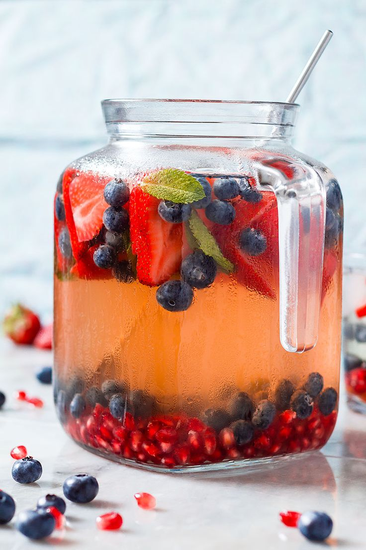 making fruity iced tea