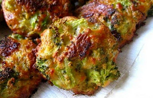 Broccoli bites: Chopped broccoli, bread crumbs, eggs, and cheese. Simple and delicious.