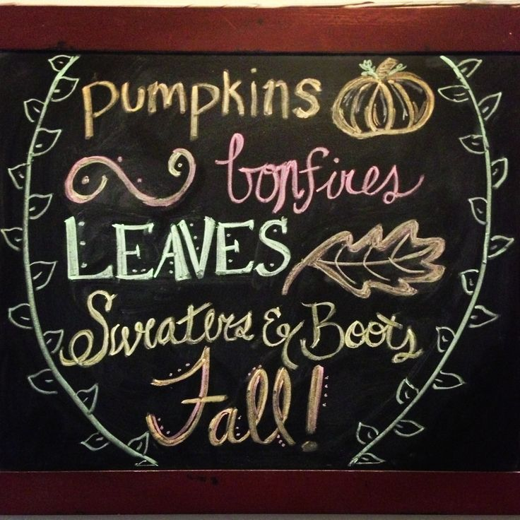 fall favorite things chalkboard design