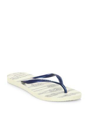 HAVAIANAS Slim Nautical Flip Flops. #havaianas #shoes #sandals