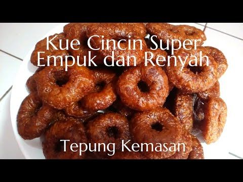 Resep Kue Cincin Super Empuk Renyah Tepung Beras Kemasan Youtube Resep Makanan Penutup Makanan Ringan Manis Kue