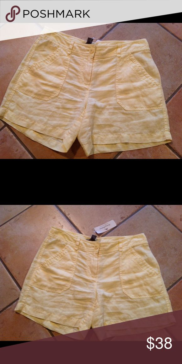 Tommy Bahama women's yellow shorts NWT 100%Linen New authentic Tommy Bahama women's yellow linen shorts .New with tags $78.00.I ship same or next day .Serious buyers please Tommy Bahama Shorts Cargos