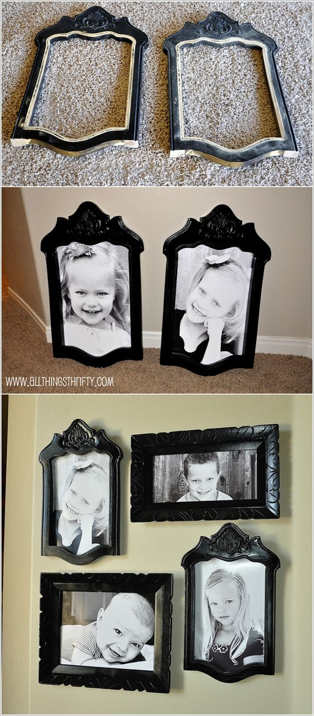 Turn The Back of Chairs into Picture Frames