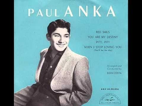 ▶ Paul Anka - You are my destiny - 1958 - YouTube