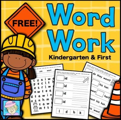 FREE! Word Work for Kindergarten and First Grade from TeacherTam on TeachersNotebook.com -  - FREE!  This set has 10 pages of word work for K and 1st.  It has 2 pages each of:  match/write sight words, word searches, fill in the sight word sentences, making CVC words, and blends/digraphs.