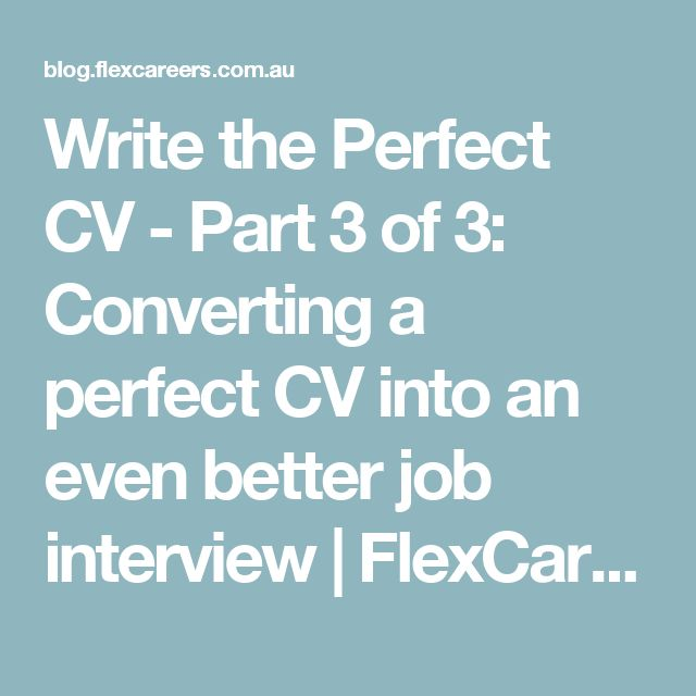 how to write the perfect cv for retail