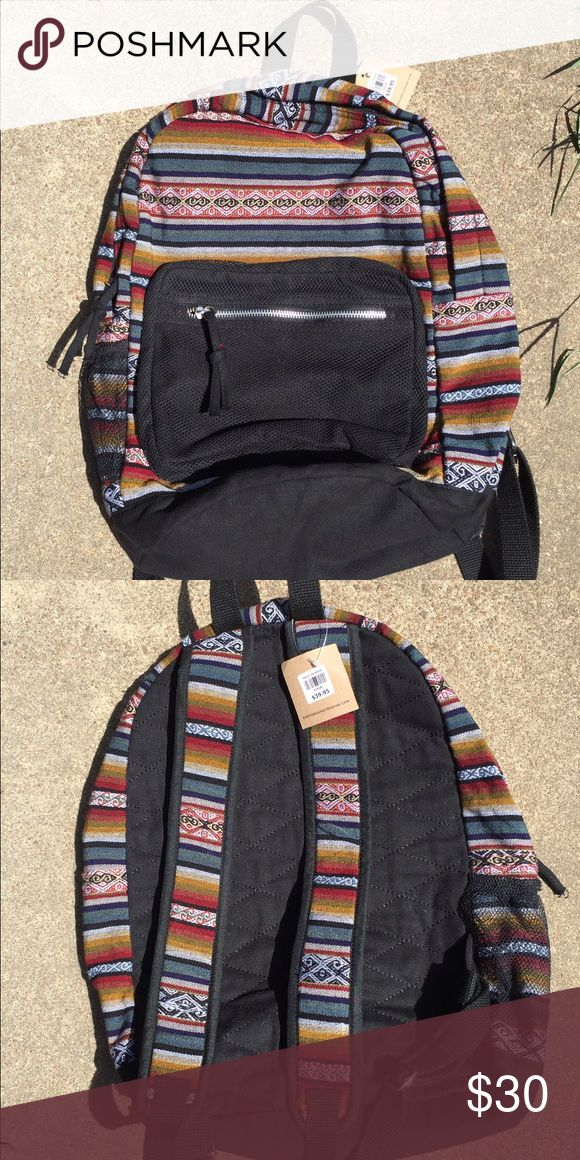Earthbound Trading Co. Aztec Backpack BRAND NEW - WITH TAGS - NEVER BEEN USED.  Super awesome unisex backpack. Not available on website & possibly sold out in stores. Earthbound Bags Backpacks