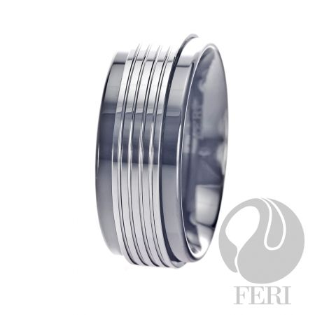 FERI Masculine Plangsten - Band - Plangsten ring - Wide fit - Dimension: 8mm (Width)  FERI Tungsten, Plangsten and Hi-Tech Ceramic collections are unique with deep luster from within. The flawless features and indestructible nature of FERI Tungsten, Plangsten and Hi-Tech Ceramic pieces will create an everlasting beauty and confidence.   www.gwtcorp.com/ghem or email fashionforghem.com for big discount