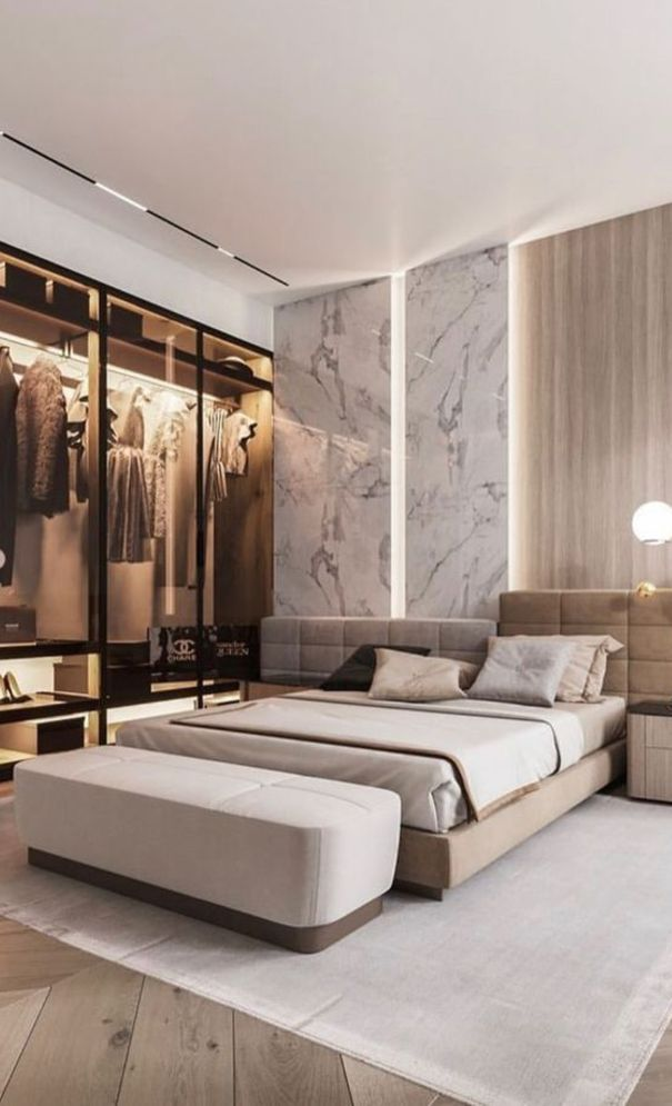 59 New Trend Modern Bedroom Design Ideas For 2020 Part 3 Luxurious Bedrooms Bedroom Design Luxury Bedroom Design