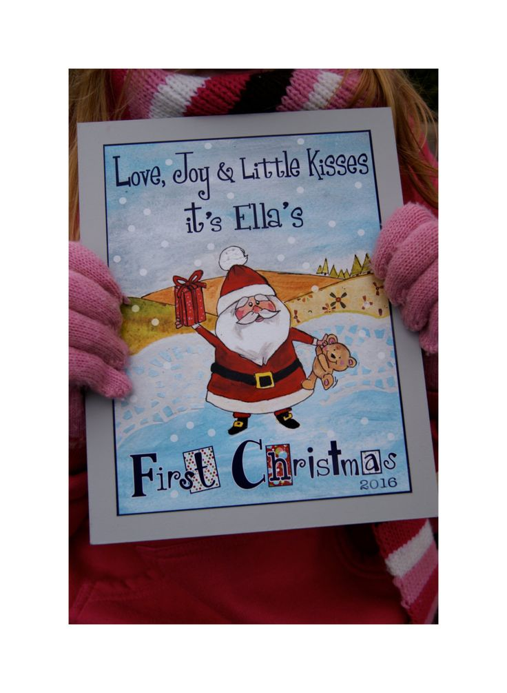 Babies First Christmas Gift - Personalised Babies First Christmas Gift = Babies First Christmas Print - Personalised First Christmas Print by RoisinandRobin on Etsy