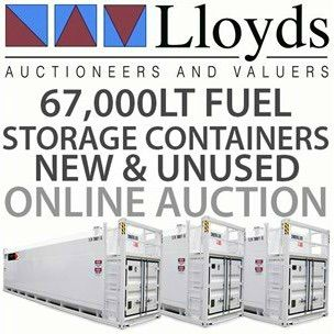 A rare chance to buy three unused bulk fuel storage containers! Bid on yours NOW: http://www.lloydsonline.com.au/AuctionLots.aspx?smode=0&aid=5687&pgn=1&pgs=100 A rare chance to buy three unused bulk fuel storage containers! The TransTank DC69-PB combines the benefits of fuel and DEF into a stationary container for bulk fuel and DEF supply. With a 60,120 litre compartment for fuel and a 7,000 litre compartment for DEF, you can safely store your fuel and DEF onsite.