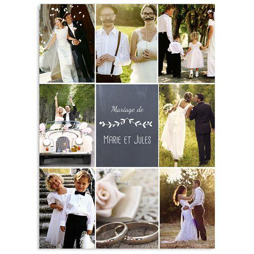 Remerciements Mariage Personnalisés - L'amour couronné 41802