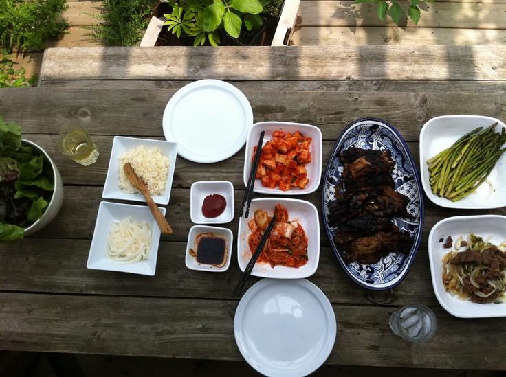 Korean lunch.