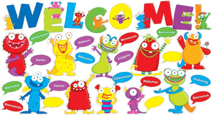 4th Grade Welcome Bulletin Boards polka dots | Shop By Theme | Back to School | Monsters Welcome Bulletin Board ...