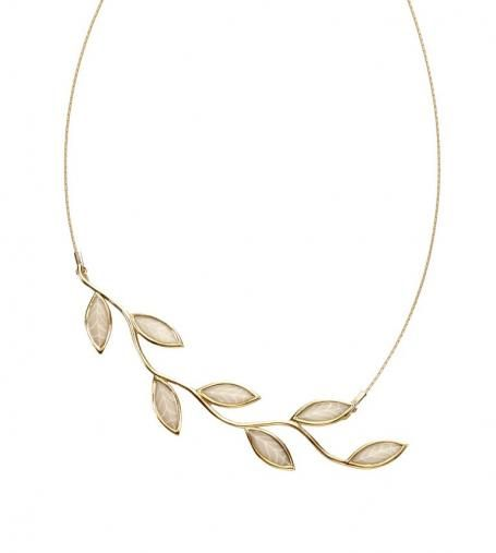 olive leaf jewelry sterling | Olive Leaf Necklace in Nude by Adina Plastelina jewelry on tres ...
