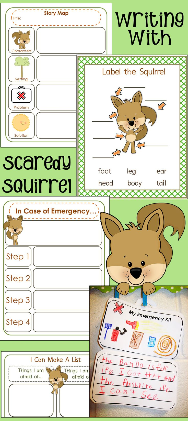 Writing with Scaredy Squirrel  Just talked about this in prof. Dev. Yesterday