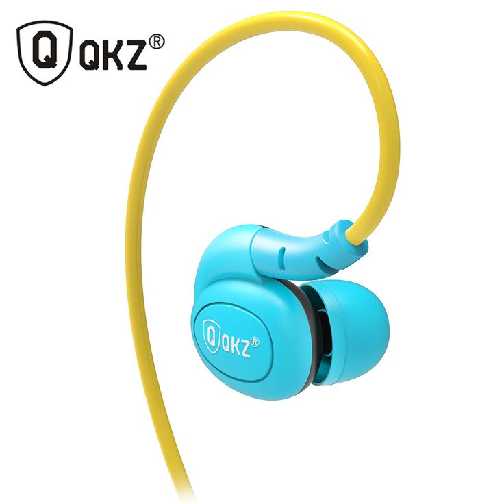 QKZ DM100 Sports Earphones Running With Memory Wire Waterproof IPX5 With Mic In-ear Earhook Music Headset Mobile Stereo Bass