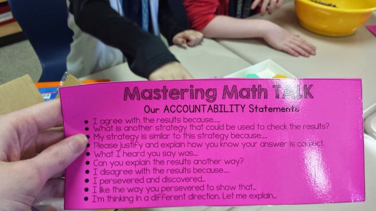 Mastering Math Talk Conversation Starters...blog post!