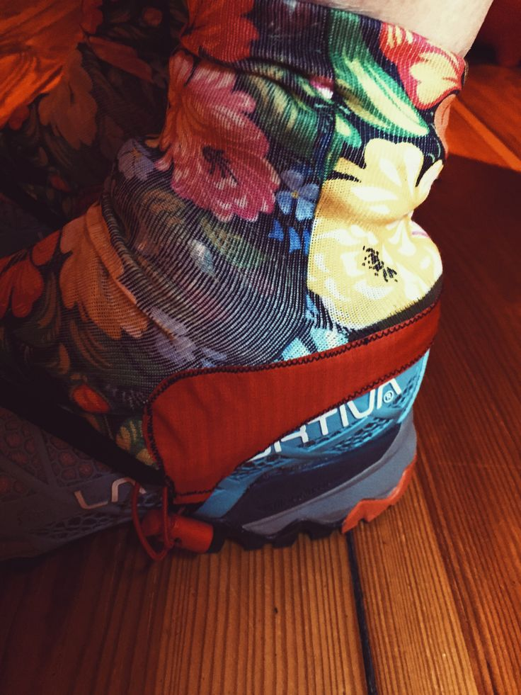 DIY pebble-proof gaiters from socks - perfect for trail running!