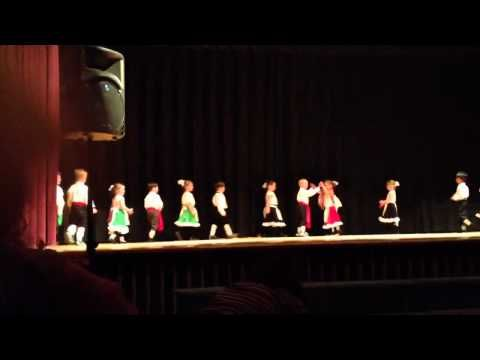 Italian folk dance - YouTube: This video is of a pre-school group, but the dance could easily work with grades K-3!