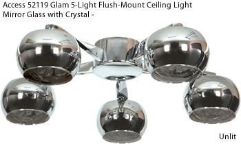 Access 52119 Glam 5-Light Flush-Mount Ceiling Light - Contemporary Flush Mount Ceiling Lighting - Brand Lighting Discount Lighting - Call Brand Lighting Sales 800-585-1285 to ask for your best price!