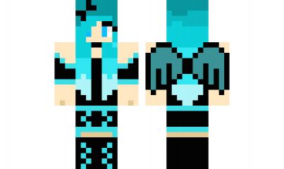 minecraft skin Emo-Girl-Edited-Blue Find it with our new Android Minecraft Skins App: https://play.google.com/store/apps/details?id=studio.kactus.girlskins