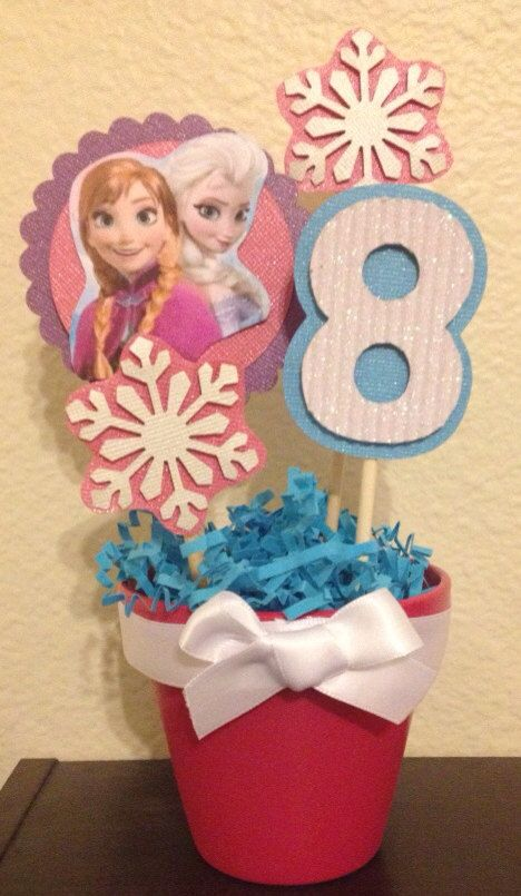 Frozen Centerpiece with Birthday Number by MadeForYouByMonica, $8.00