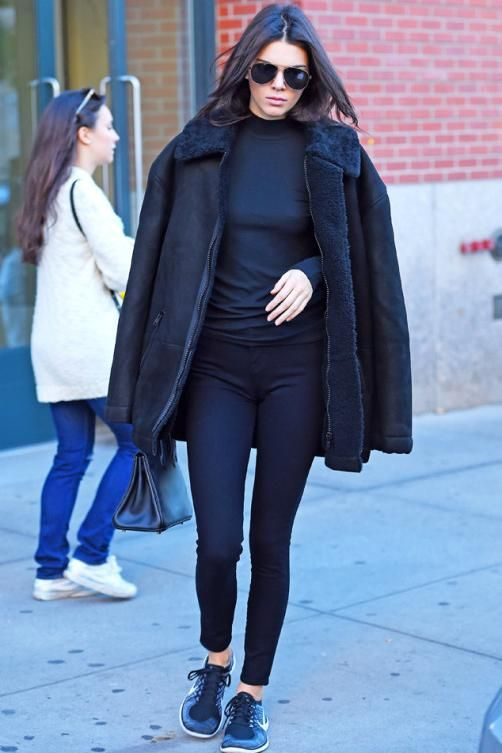 save off f42fc d0a6a ... Kendall Jenner New York City November 8 2015 Nike Free 4.0 ...