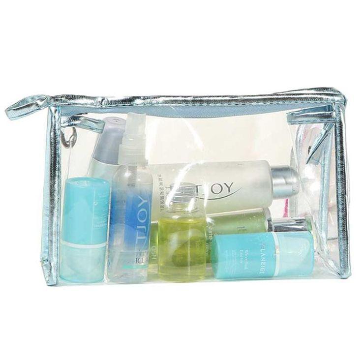 Travel Makeup Bag Clear Waterproof Storage Makeup Travel Toiletry Bag Organizer Pouch Makeup Case Bag Maleta Maquillaje G #Affiliate
