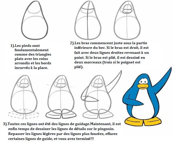 13 best pingouins images on pinterest how to draw - Pingouin a dessiner ...