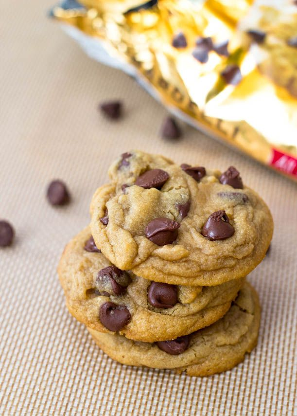 Soft Baked Chocolate Chip Cookies w/ secret ingredient