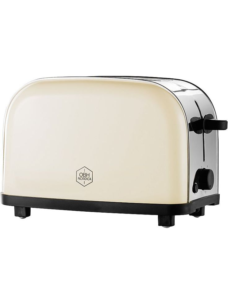 Snygg cremefärgad brödrost - OBH Nordica Manhattan Creme 2270
