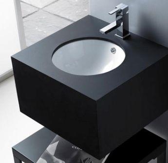lavabo ceramico bajo encimera circular medidas x x color