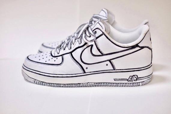 Comic book Custom Nike Air force 1, custom sneakers , custom