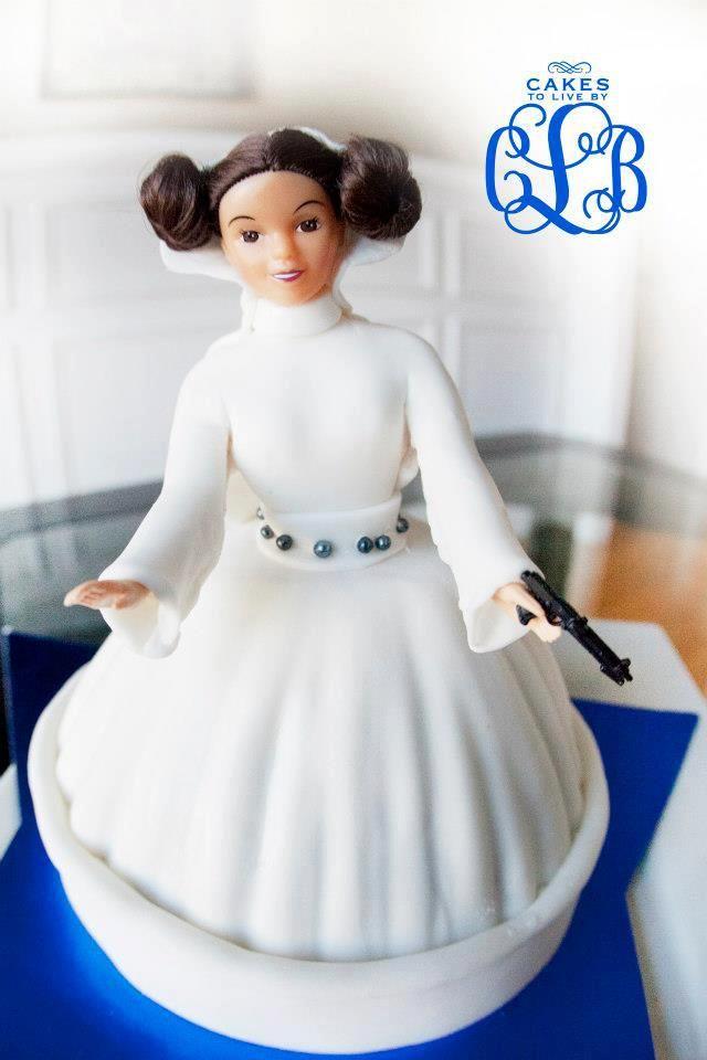 Princess Leia, Fondant Star Wars Cake Cakes To Live By ...