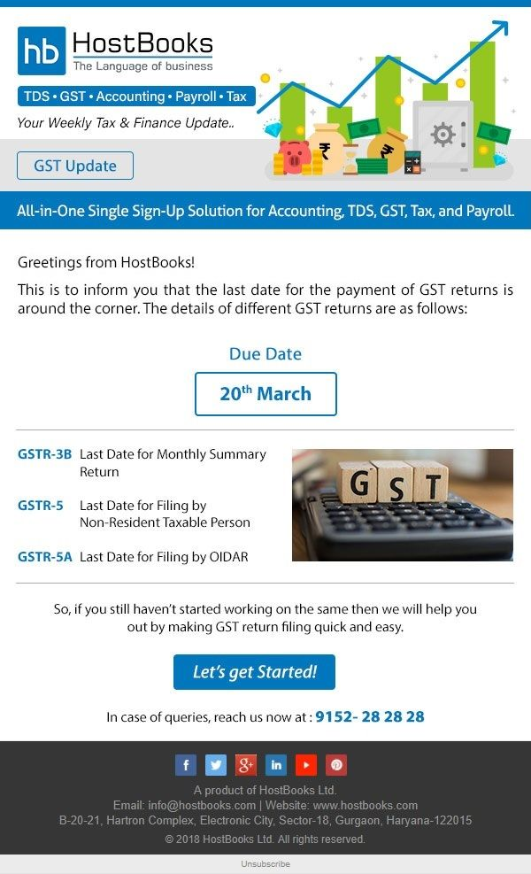 Hurry Up The Deadline For Filing Gst Returns Is Approaching Switch Over To Hostbooks Now For Quick And Effortless Gst Return Payroll Accounting Payroll Taxes