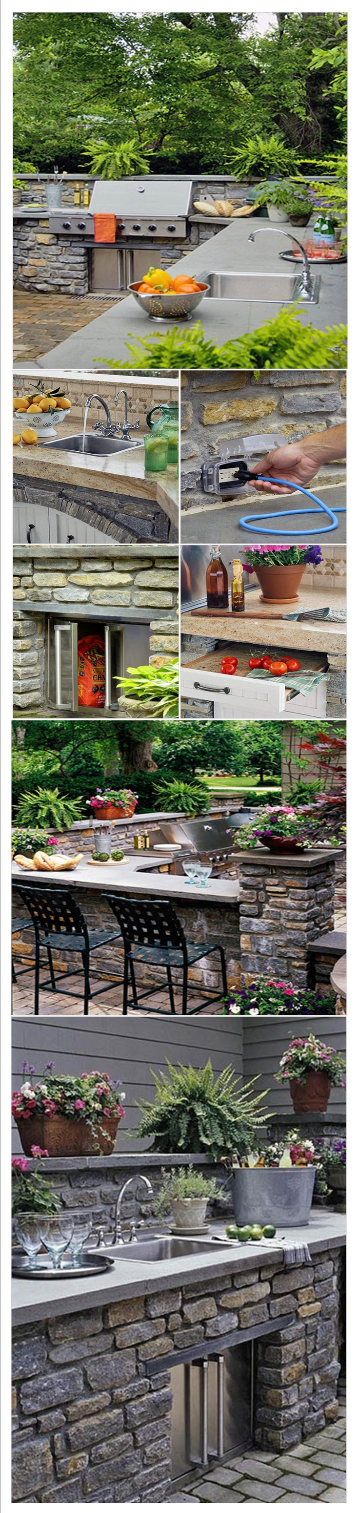 107 best outdoor kitchen images on pinterest outdoor kitchens