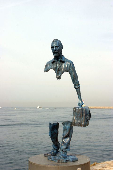 """Le Grand Van Gogh"" ~ by French sculptor Bruno Catalano at the waterfront in Marseille, France"