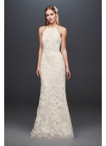f77f6536b913 Long Sheath Casual Wedding Dress - DB Studio