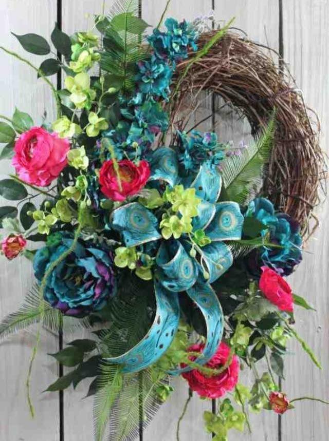 1000 Images About Diy Wreaths On Pinterest Beautiful Summer Door Wreaths