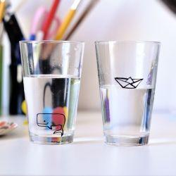 Tuto rigolo pour décoration de verres  - Fun glasses tutorial to make with kids!