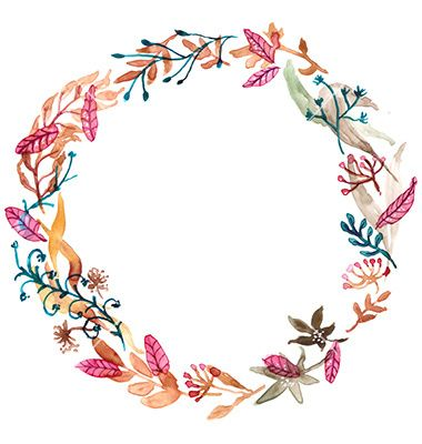 Watercolor floral frame colorful natural vector 3822833 - by Elmiko on VectorStock®