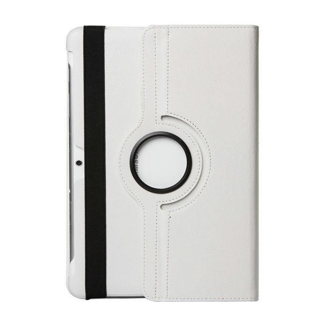 7 in 1 For Samsung Galaxy Tab 2 10.1 Leather Case Cover 360 Rotating+Micro OTG+USB cable