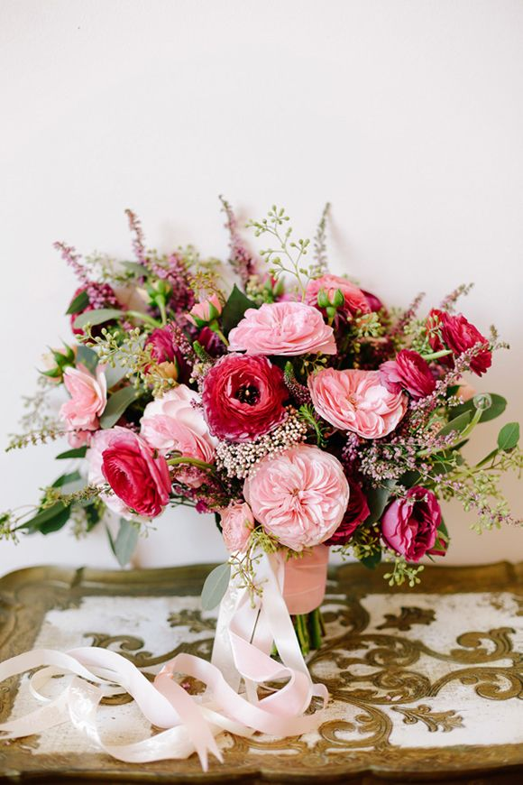 Ranunculus and Ruffled Garden Rose Bouquet   Valentines DIY by Annabella Charles and Haute Horticulture