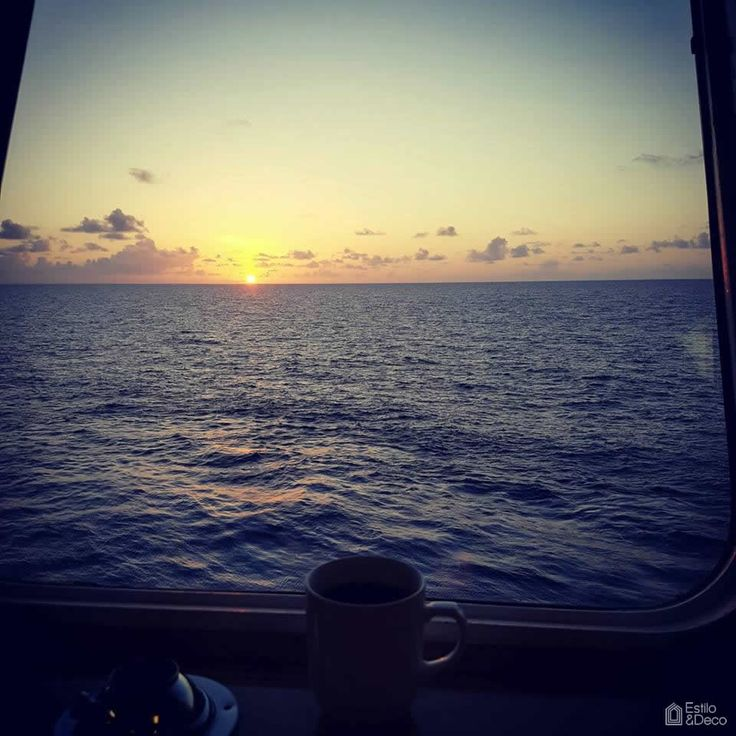 Comenzando el día a bordo del barco Seacor Maya, en el Golfo de México. Foto enviada por: Guillermo Arturo Alcaraz.