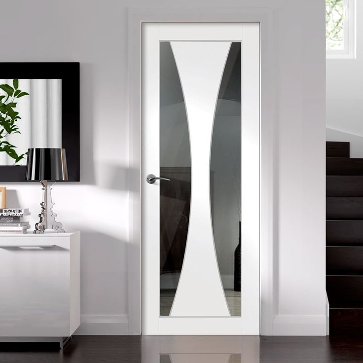 Verona White Primed Door with Clear Safety Glass  - Lifestyle Image