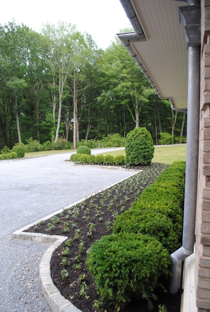 Landscape Timbers Driveway Edging : Driveway edging and bush border housewife exteriors