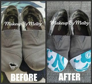 "MakeupByMelby: DIY: Fix your ""Holy"" Toms!"